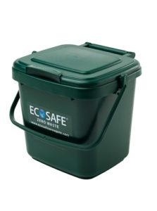 Ecosafe Green   Zero waste Kitchen Caddy Compost Bin Green