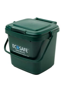 Ecosafe Green | Zero waste Kitchen Caddy Compost Bin Green