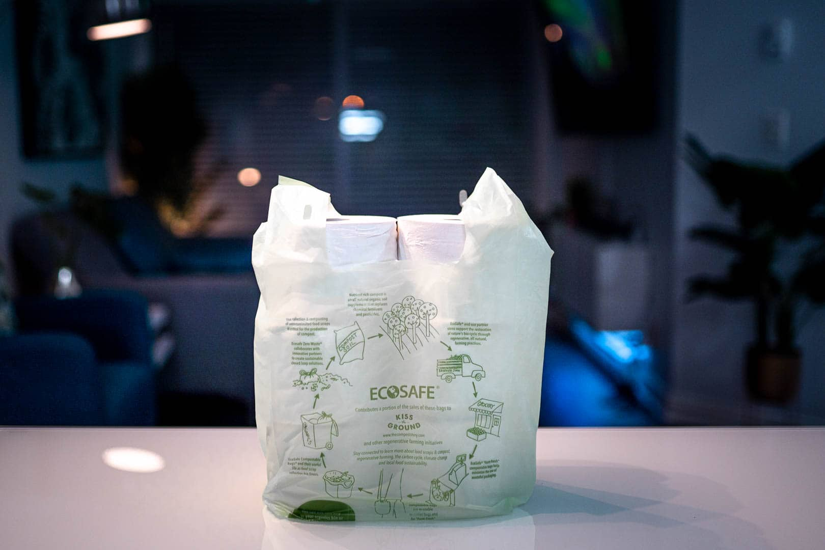 Ecosafe Green | Zero waste - toilet paper in plastic bag